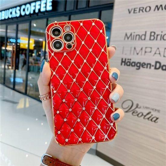 Red Jeweled Diamond iPhone Case