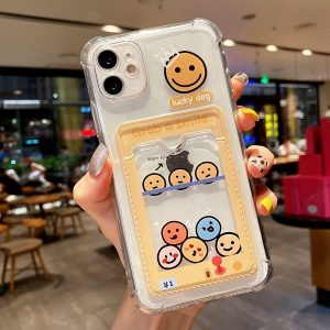 Smiley Face Phone Case With Card Pouch